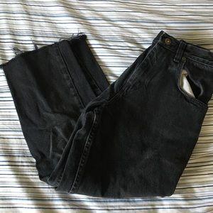 Wrangler black wide leg jeans